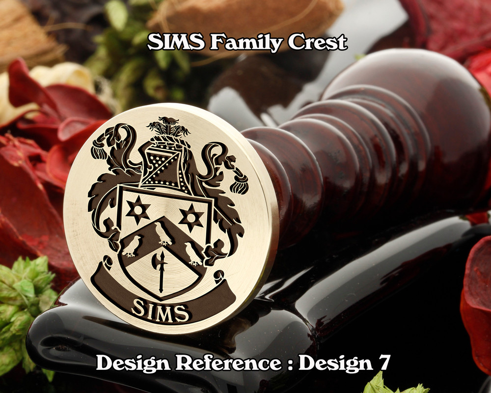 SIMS Family Crest Wax Seal D7