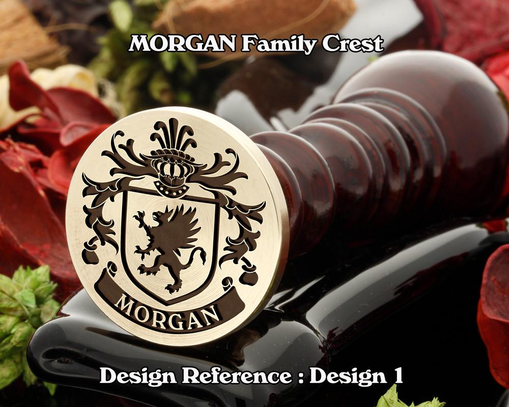 MORGAN Family Crest Wax Seal D1