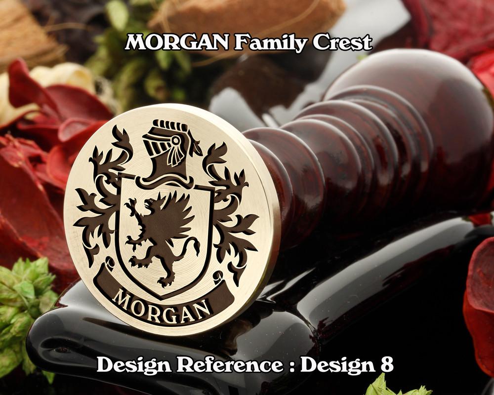 MORGAN Family Crest Wax Seal D8