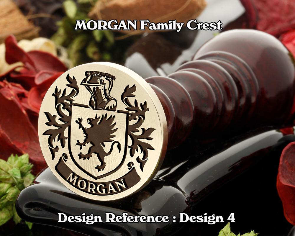 MORGAN Family Crest Wax Seal D4