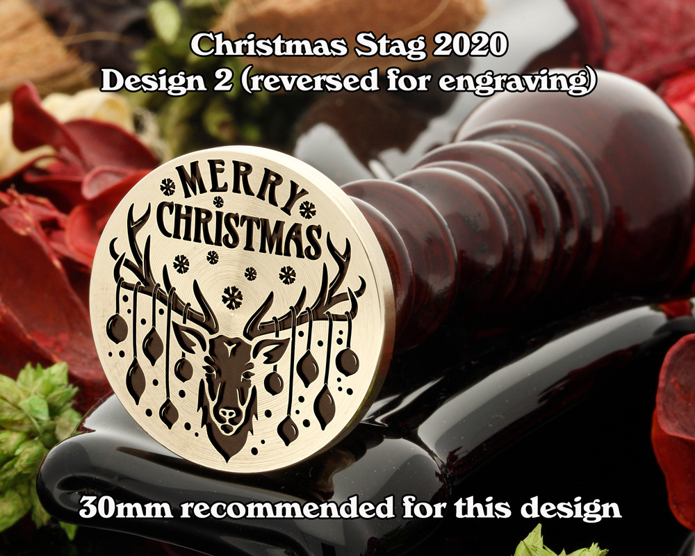 Christmas Reindeer 2020 D2 Wax Seal Stamp