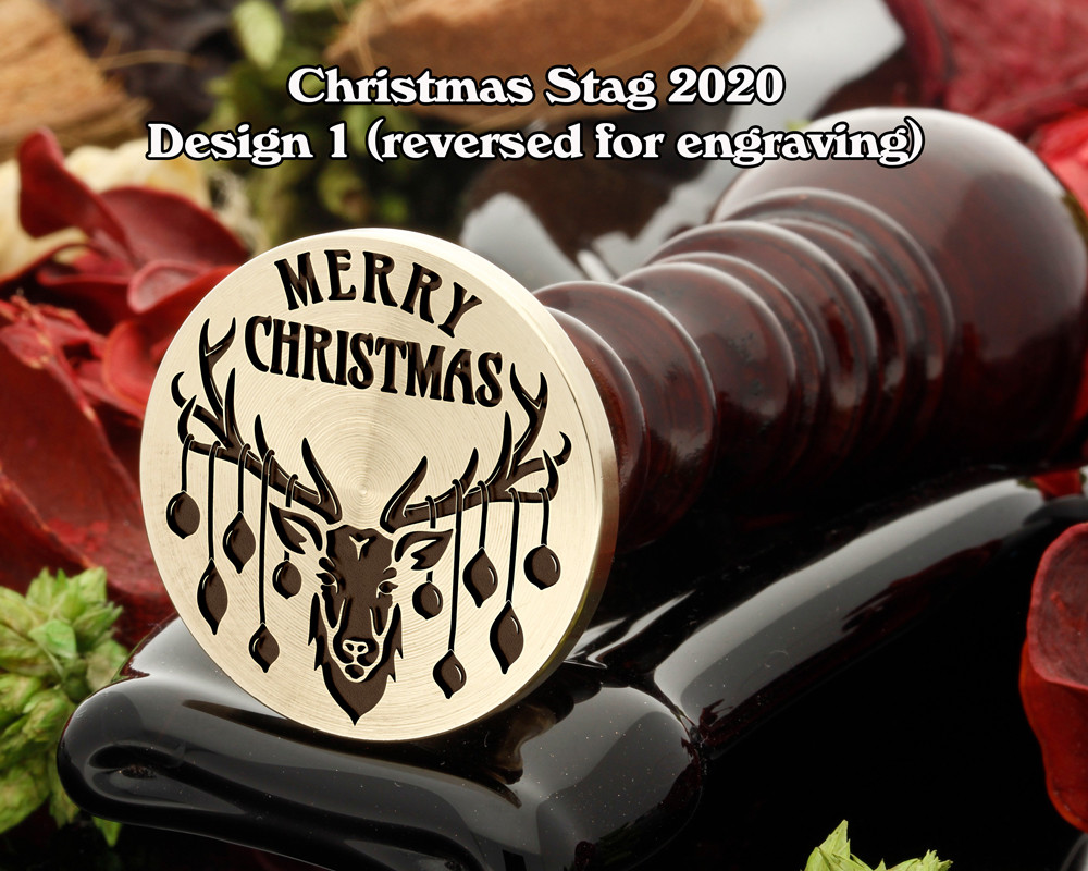 Christmas Reindeer 2020 D1 Wax Seal Stamp