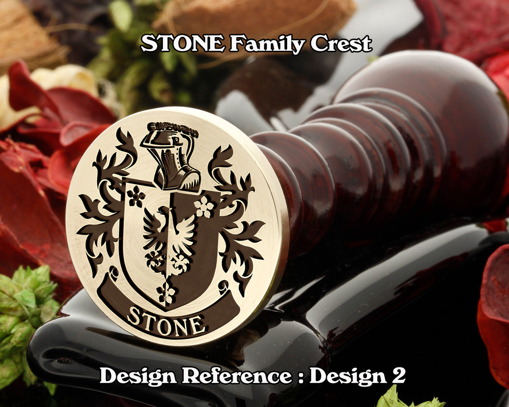 Stone Family Crest Wax Seal D2