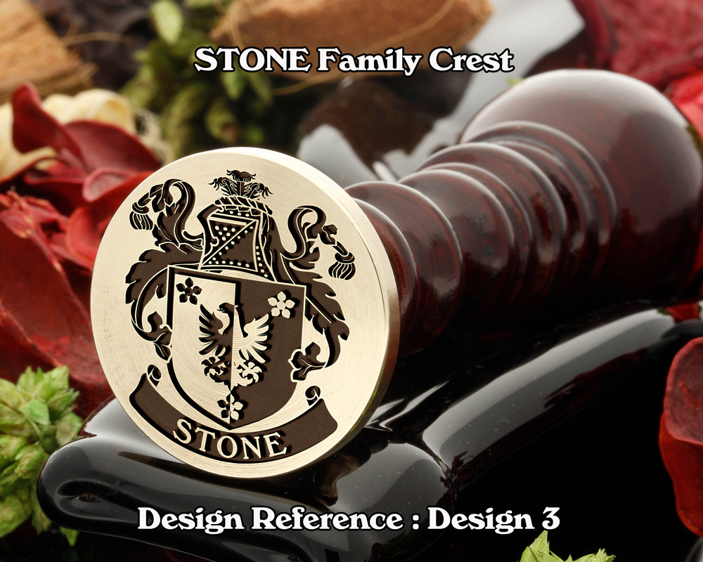 Stone Family Crest Wax Seal D3