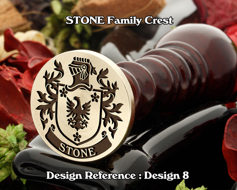 Stone Family Crest Wax Seal D8