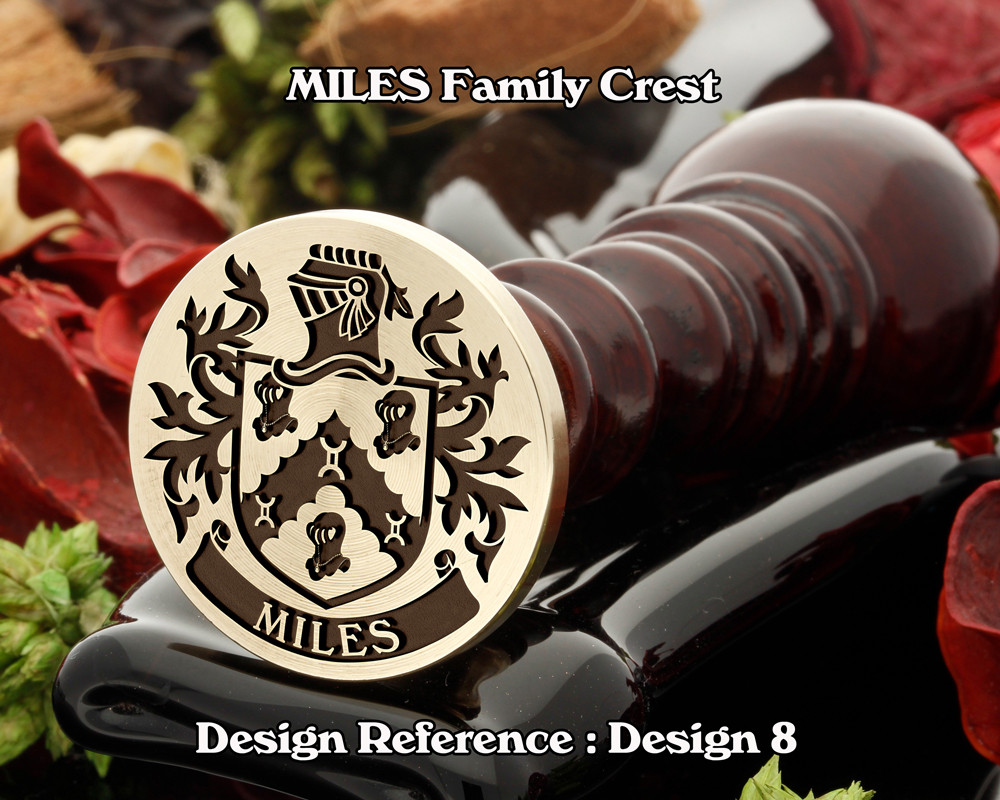 Miles Family Crest Wax Seal Stamp D8