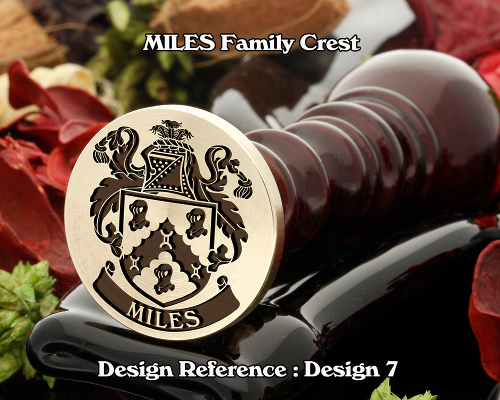 Miles Family Crest Wax Seal Stamp D7