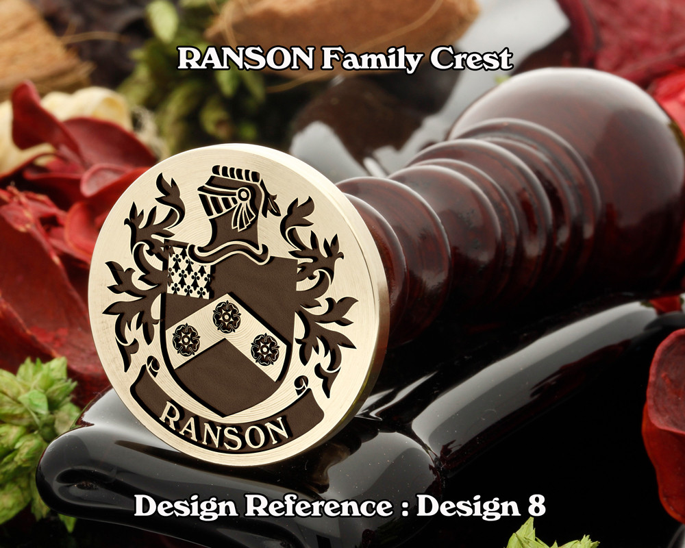 Ranson Family Crest Wax Seal Stamp D8