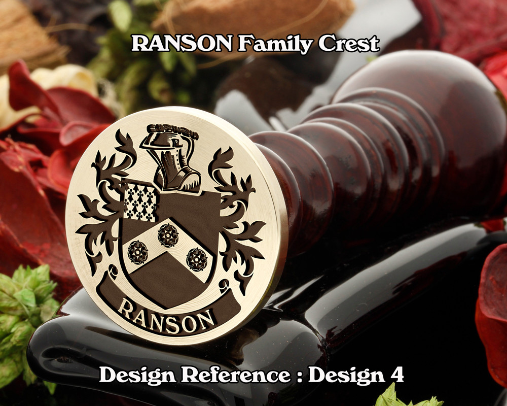 Ranson Family Crest Wax Seal Stamp D4