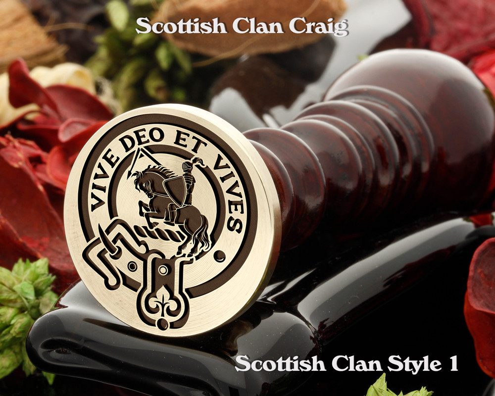 Craig Scottish Clan Wax Seal D1