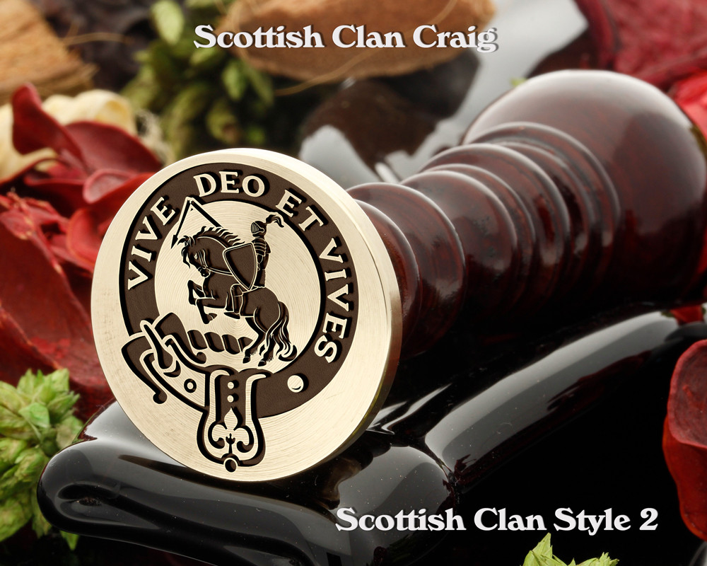 Craig Scottish Clan Wax Seal D2