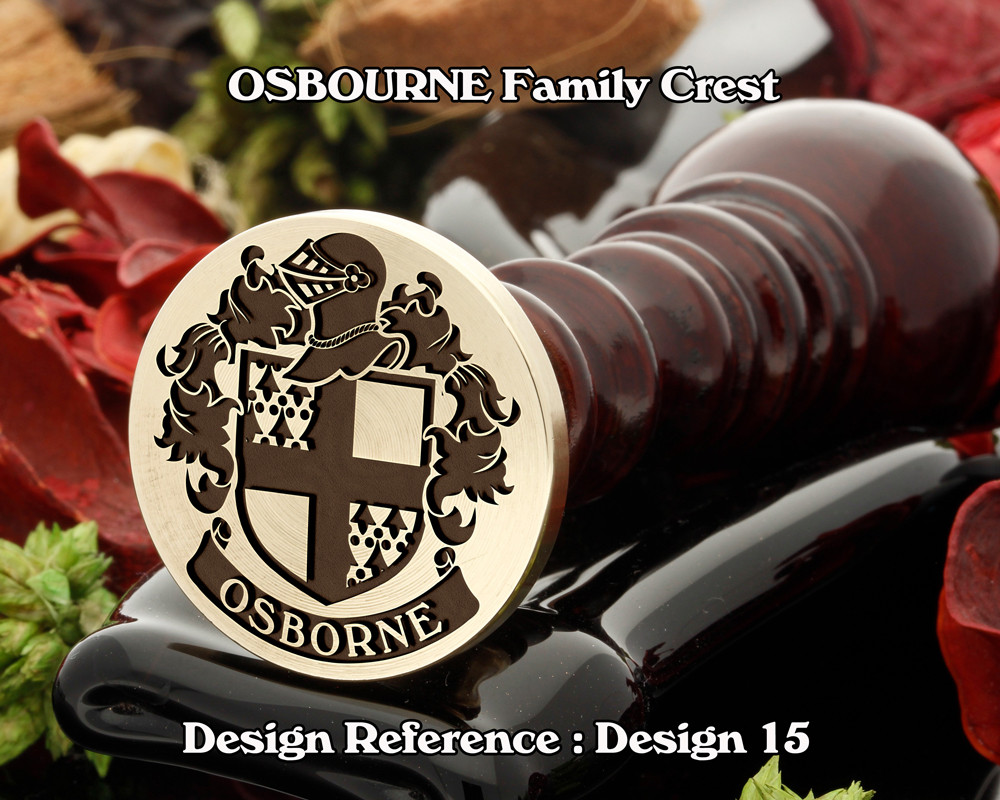 OSBORNE Family Crest Wax Seal Stamp D15