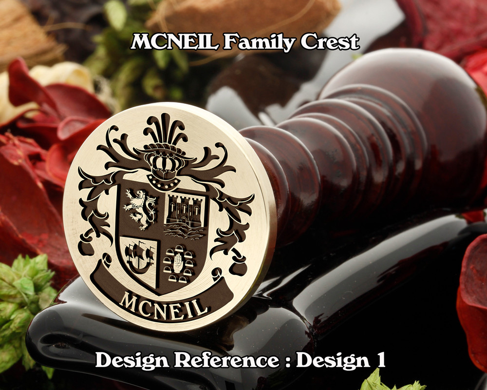 MCNEIL Family Crest Wax Seal Stamp D1