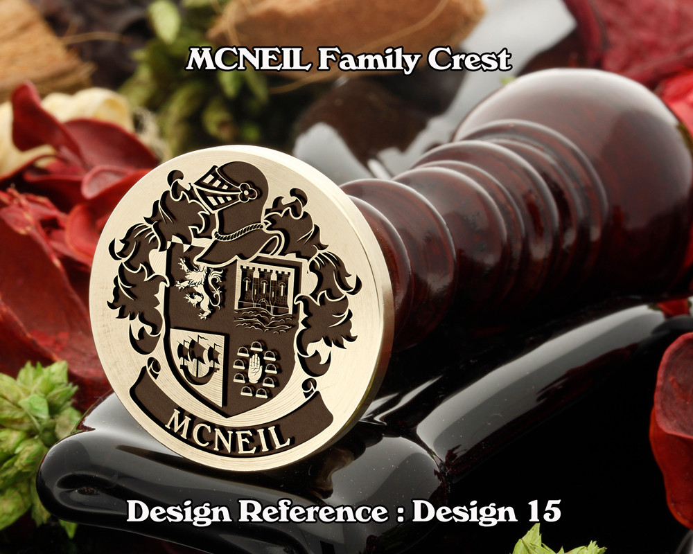 MCNEIL Family Crest Wax Seal Stamp D15
