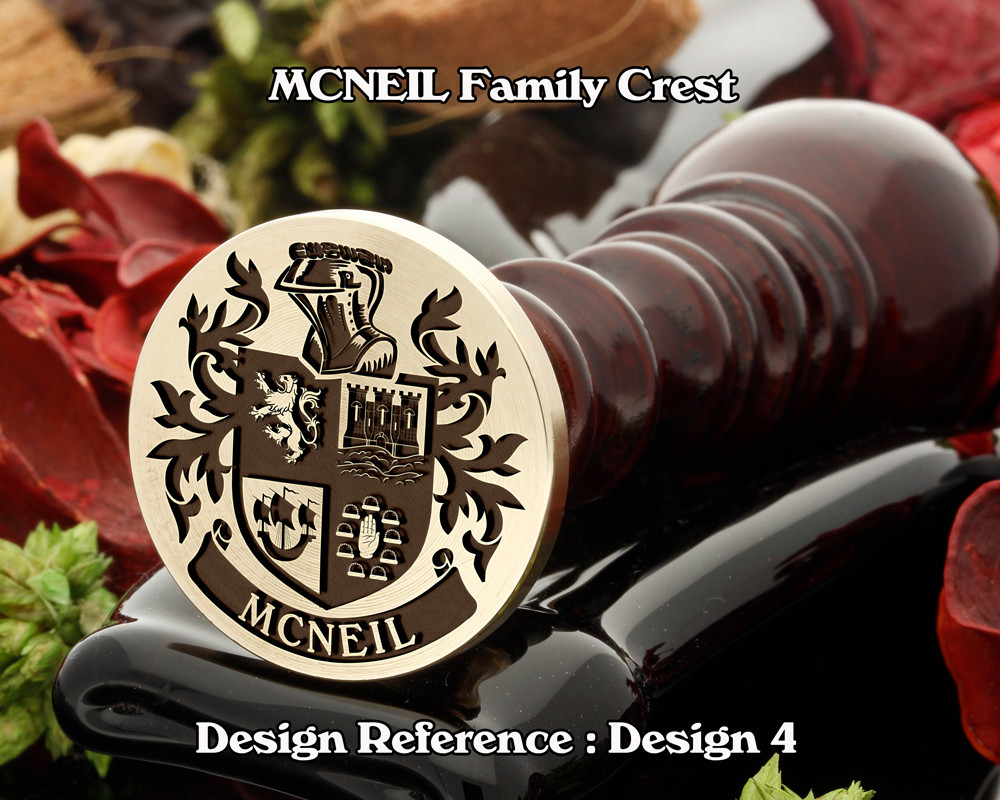 MCNEIL Family Crest Wax Seal Stamp D4
