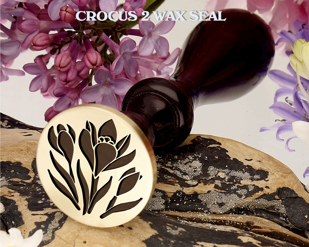 Crocus 2 Wax Seal Design
