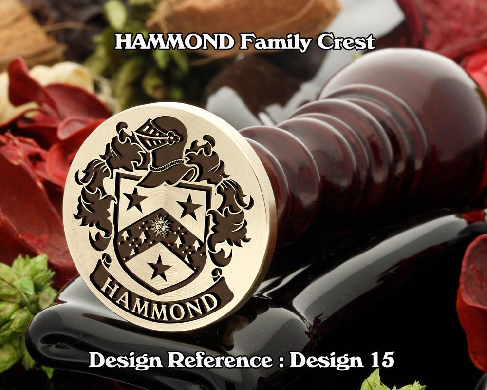 HAMMOND Family Crest Wax Seal D15