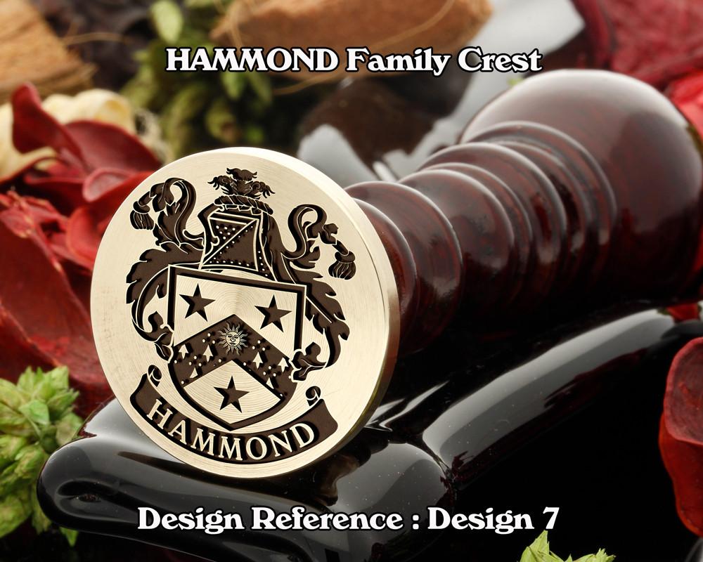HAMMOND Family Crest Wax Seal D7