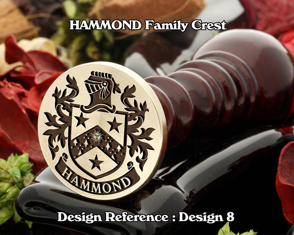 HAMMOND Family Crest Wax Seal D8