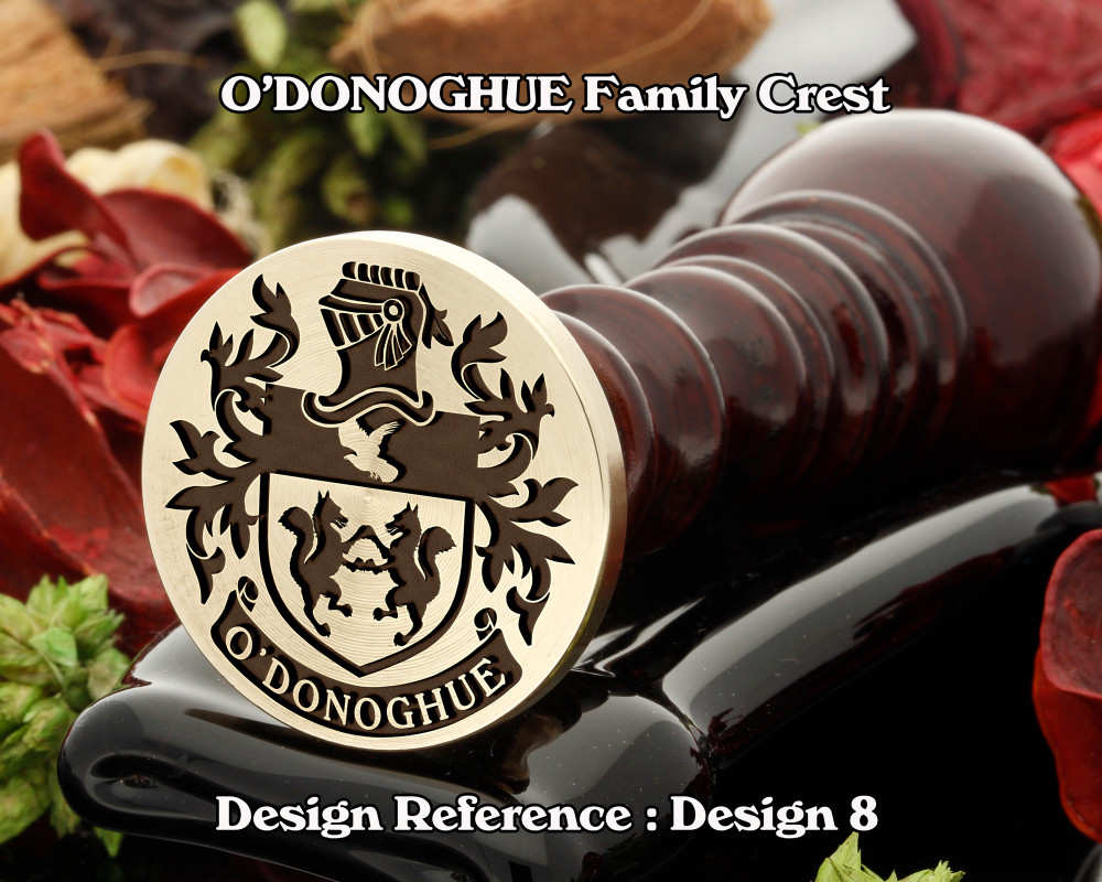O'DONOGHUE Family Crest Wax Seal D8