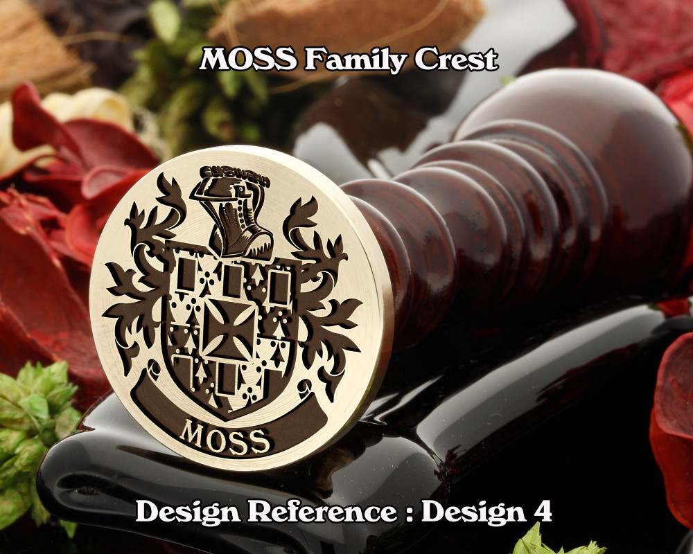 MOSS Family Crest Wax Seal D4