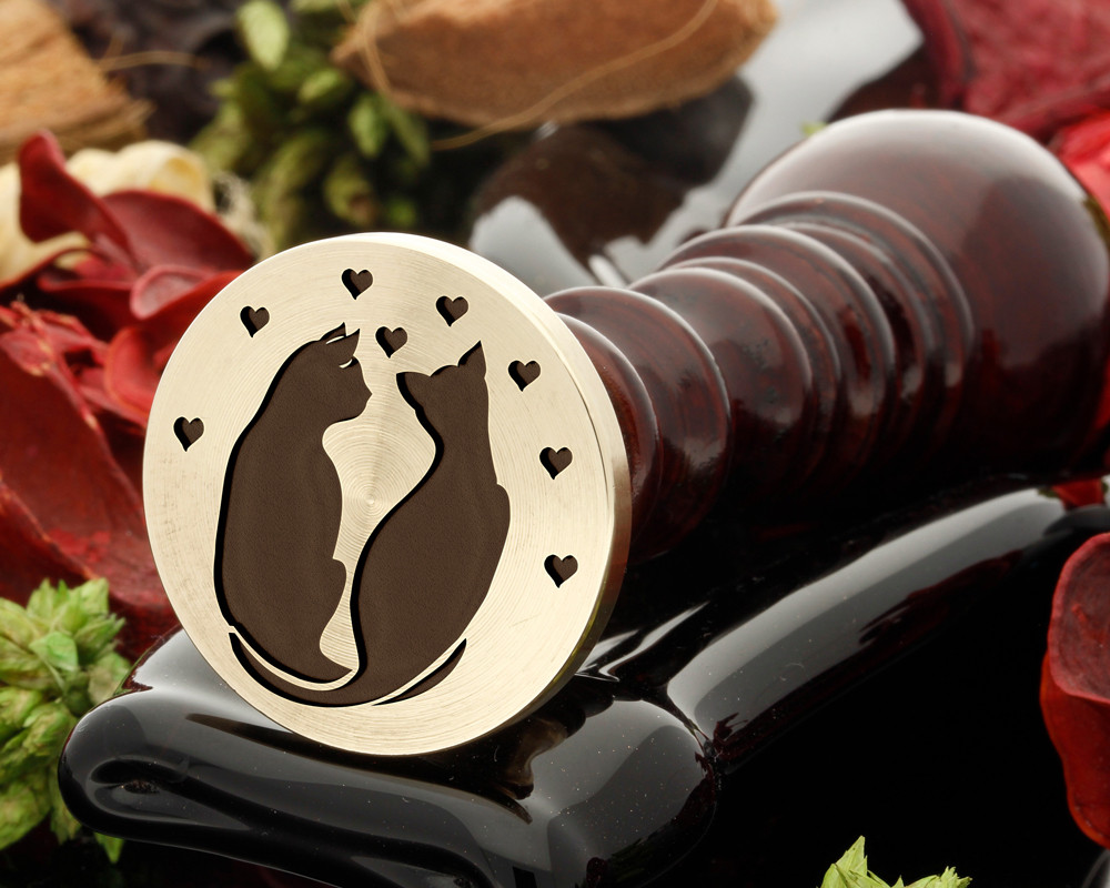 Cats in love wax seal