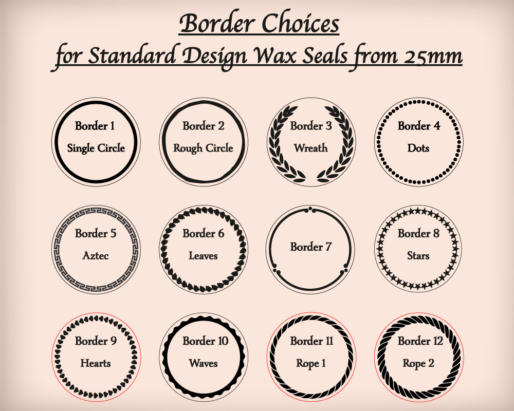 Border Options from 25mm only for standard designs (small extra cost)