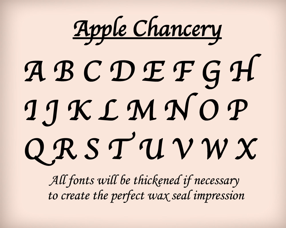 Apple Chancery font examples