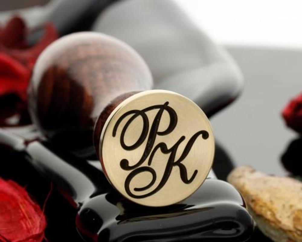 PK Wax Seal Monogram (photo reversed)