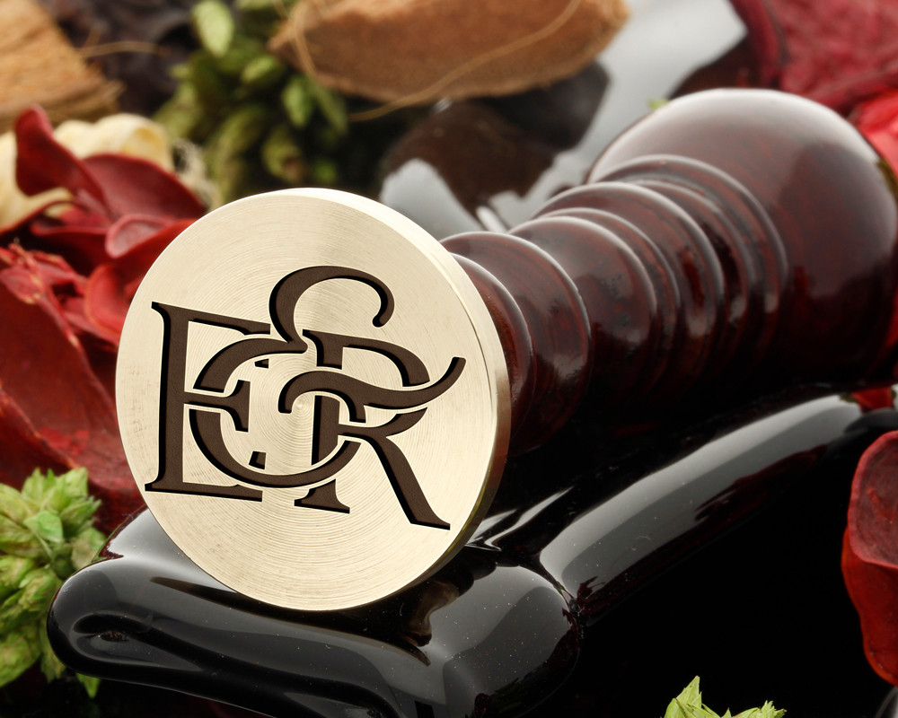 E&R Wax Seal Monogram (photo reversed)
