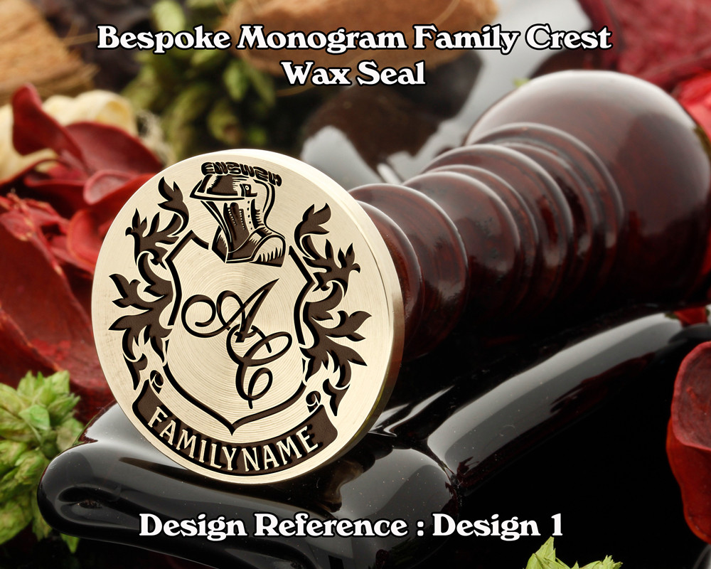 Family Crest Monogram Wax Seal Stamp From 25mm