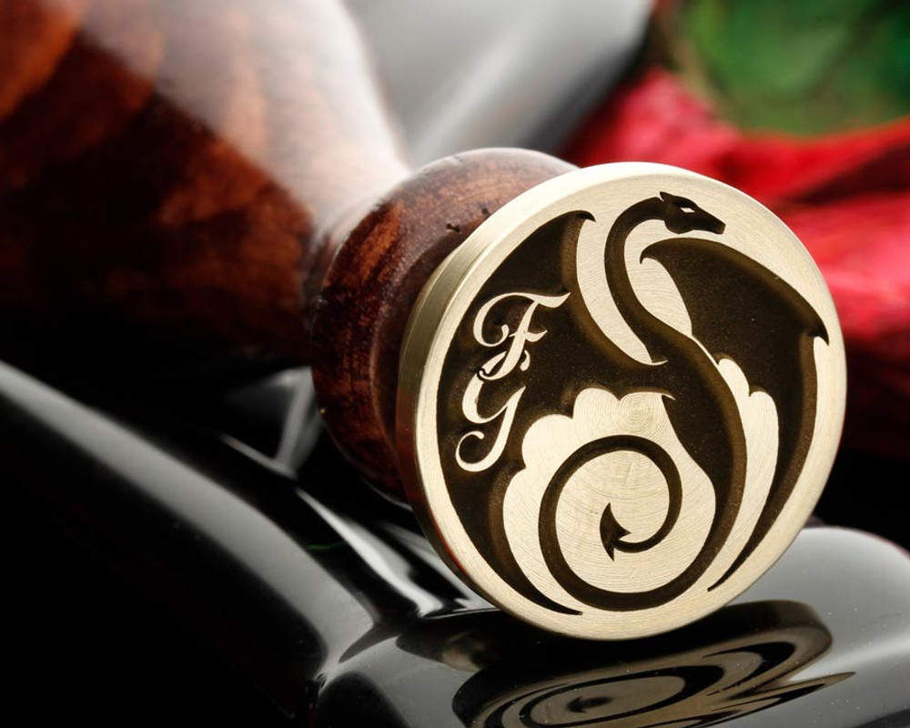 Dragon 37 wax seal stamp, add your own initials or text