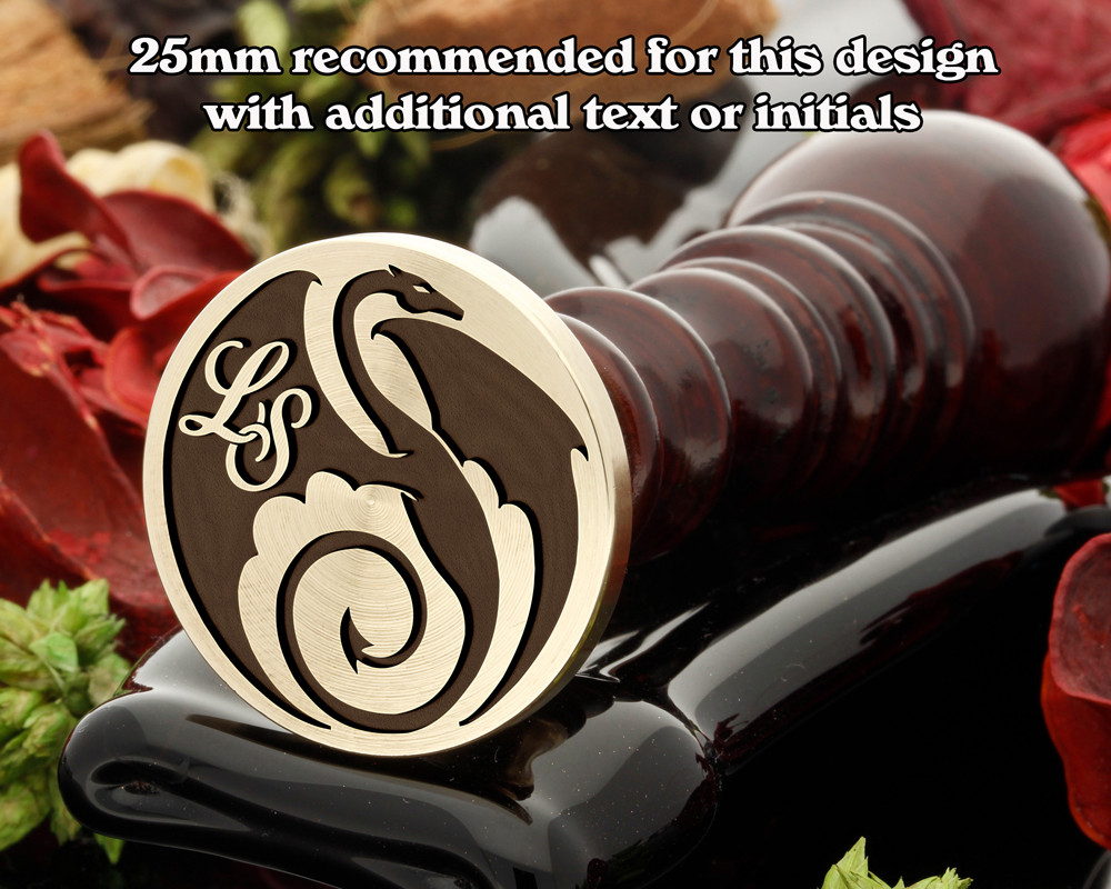 Dragon Wax Seal Stamp with Monogram Initials
