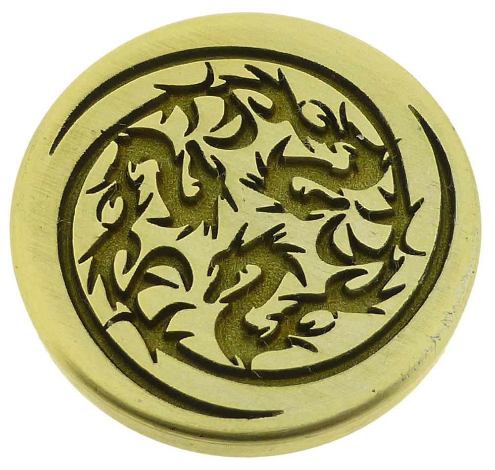Engraved wax seal, photo reversed.