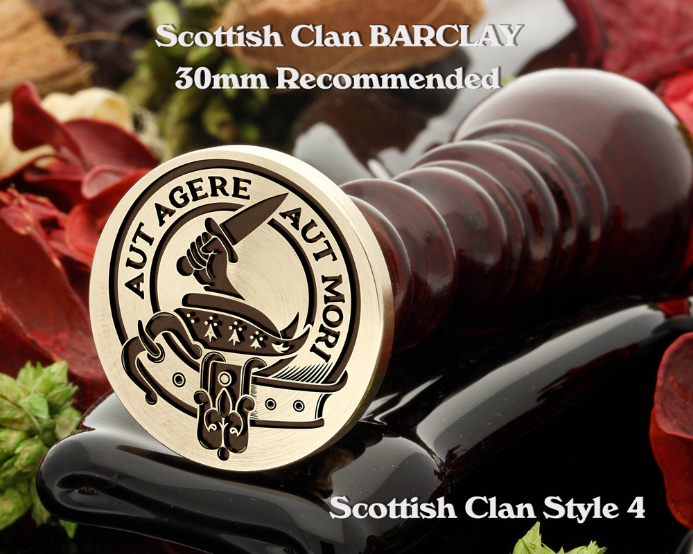 Barclay Scottish Clan Wax Seal, also Cufflinks and Signet Rings D5