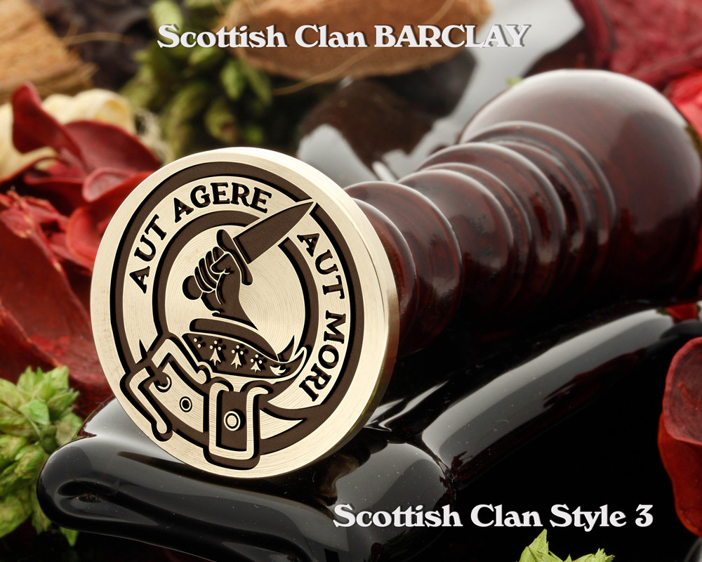 Barclay Scottish Clan Wax Seal, also Cufflinks and Signet Rings D3