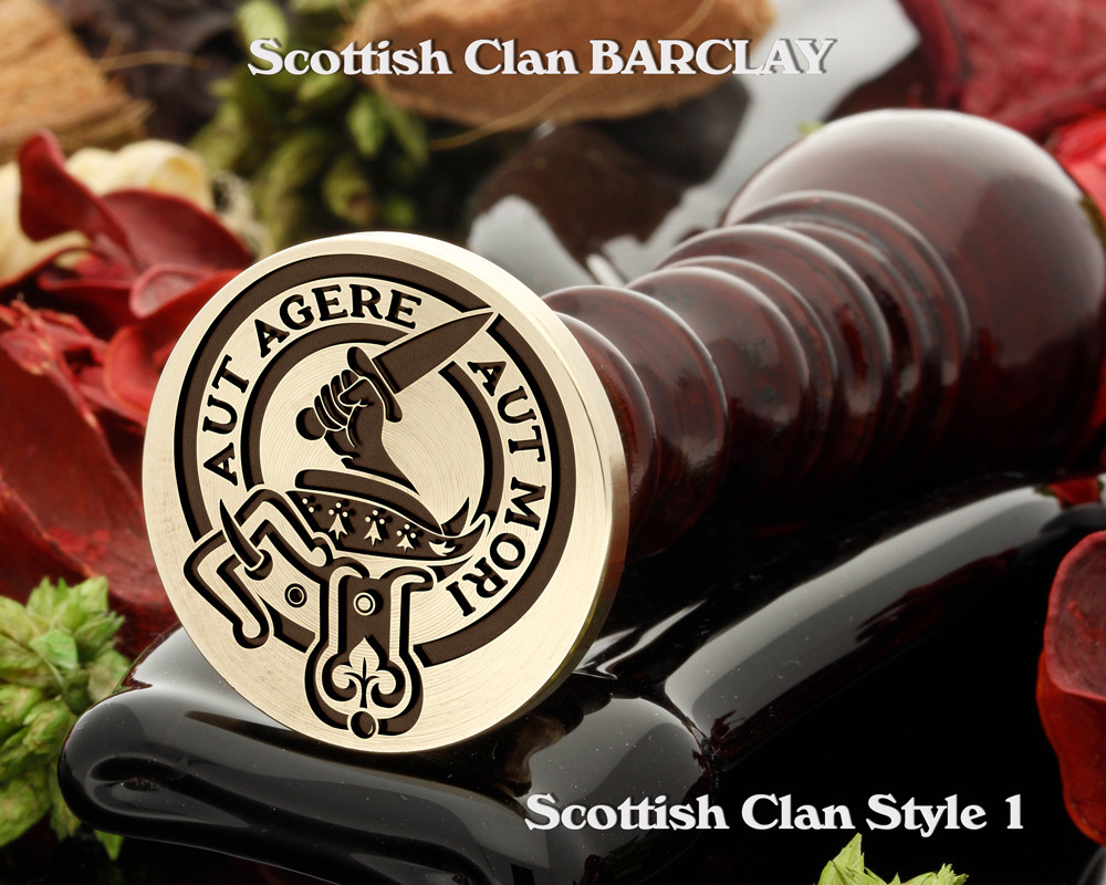 Barclay Scottish Clan Wax Seal, also Cufflinks and Signet Rings D1