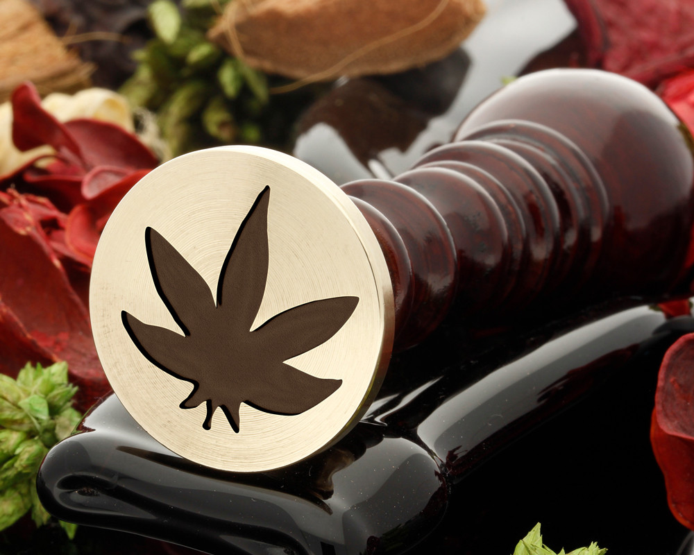 Cannabis leaf wax seal stamp
