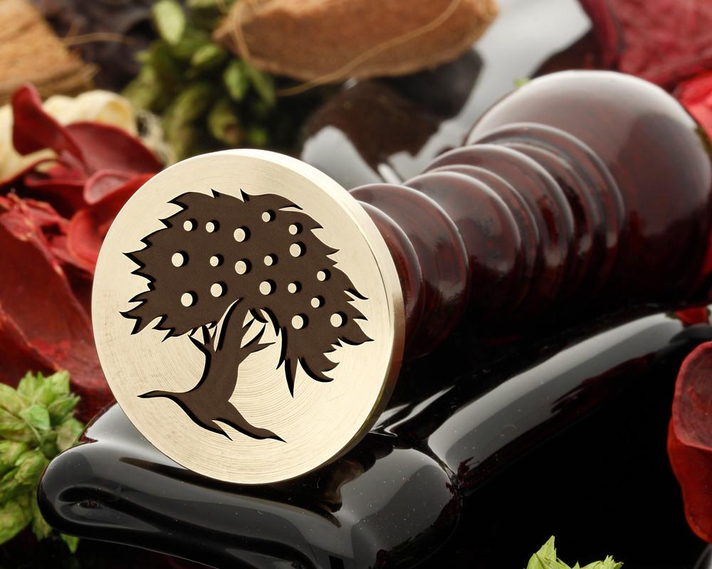 Fruit tree wax seal stamp