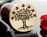 Tree of Life Birds Wax Seal Stamp Engraved