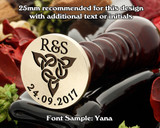 Celtic D8 Wax Seal - text extra, sample font Yana
