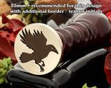 Raven in flight Wax Seal Stamp