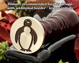 Single Penguin Wax Seal Stamp