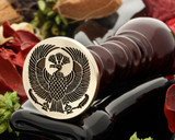 Peacock 3 wax seal