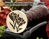 Crocus Wax Seal Design