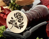 Rose 12 wax seal