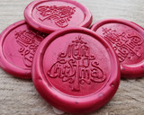 Merry Christmas Self Adhesive Wax Seal Stickers Pearl Red