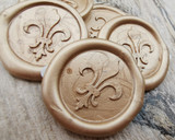 Fleur de Lys Peel and Stick wax seal stickers - all colours available.