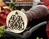 Arabic 2 wax seal
