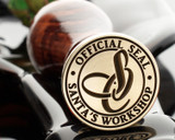 OFFICIAL SEAL SANTAS WORKSHOP MONOGRAM